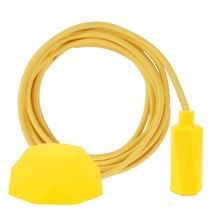 Dark yellow textile cable 3 m. w/yellow Hexa lamp holder cover E14