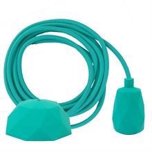 Turquoise cable 3 m. w/turquoise Facet lamp holder cover