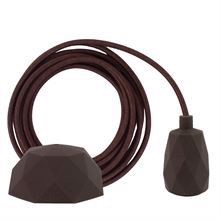 Brown textile cable 3 m. w/brown Facet lamp holder cover
