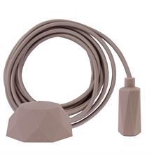 Sand textile cable 3 m. w/sand Hexa lamp holder cover E14
