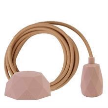 Dusty Latte textile cable 3 m. w/nude Facet lamp holder cover