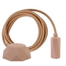Dusty Latte textile cable 3 m. w/nude Hexa lamp holder cover E14