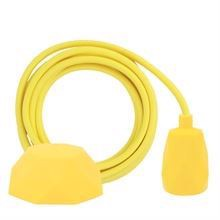 Dusty Yellow textile cable 3 m. w/yellow Facet lamp holder cover