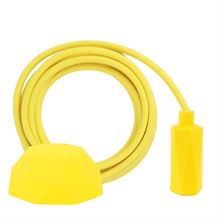 Dusty Yellow textile cable 3 m. w/yellow Hexa lamp holder cover E14